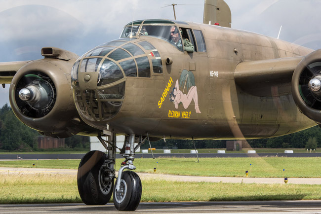 A B-25 Mitchell bomber like the one that will be featured at the third annual Freedom Fest at the Flagler County Executive Airport Saturday. (Steve Lynes)