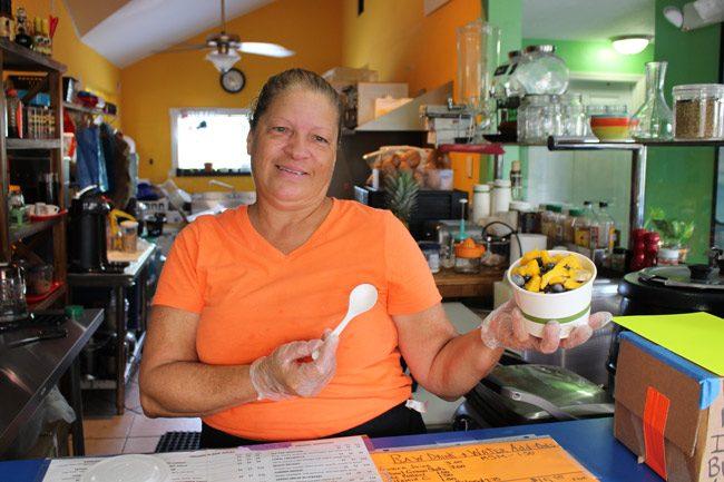 Back to Eden Café's Maria Serrano.