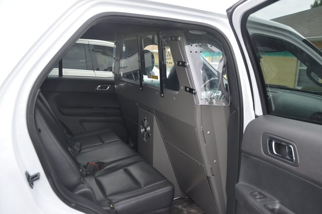 The interior of a vehicle used by authorities in Flagler County for Baker Acts. (c FlaglerLive)