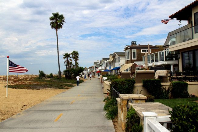 A row of vacation rental homes on Balboa Island, Calif. The vacation-rental industry is making another big push to eliminate local restrictions on vacation-rental properties in Florida. Flagler County government is resisting. (Prayitno)
