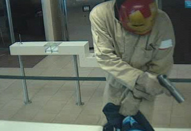A surveillance camera capture of the robber, released by the Flagler County Sheriff's Office.
