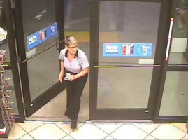 A surveillance video image of Barbara Parchem released by the St. Johns County Sheriff's Office. Click on the image for larger view.