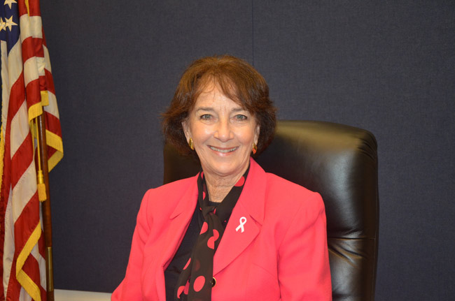 Barbara Revels is a two-term incumbent on the Flagler County Commission. (© FlaglerLive)