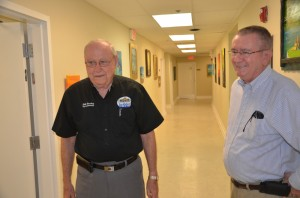 Commissioner Bill Baxley, left, and Charles Gardner. Click on the image for larger view. (© FlaglerLive)