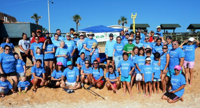 beach clean-up florida hospital