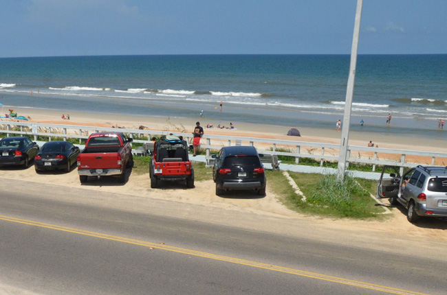 The area of surf in Flagler Beach, south of South 4th Street, where a woman is alleging that she may have been raped in the early morning of Oct. 14. (c FlaglerLive)