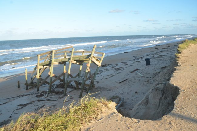 Toward the north end of Flagler Beach. Click on the image for larger view. (c FlaglerLive)
