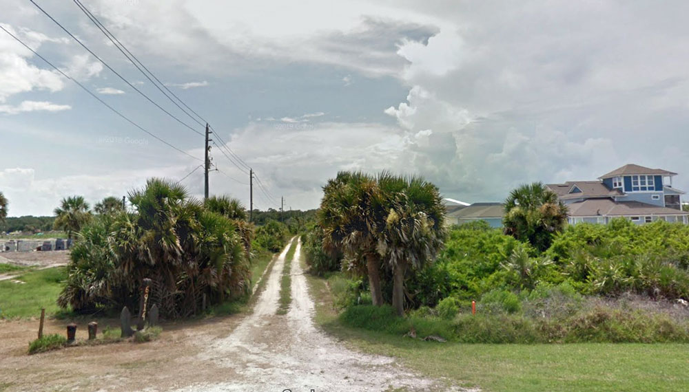 Sandy Beach Way is part of a small subdivision at the northern end of Flagler on the barrier island, in the Beach Haven neighborhood. (Google)