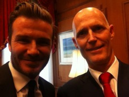 Beckham and Rick Scott in a selfie Scott posted on his Twitter account.