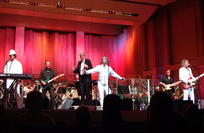 The Bee Gees tribute band performing with Marvin Hamlisch and the San Diego Symphony.