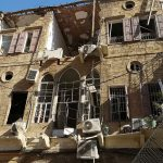 An old house in Beirut's Gemmayze district, half a mile from the port and the blast site. (© Myrna Boulos Jacquin for FlaglerLive)