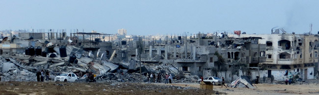 Ruins of Beit Hannoun, Gaza. (B'Tselem)