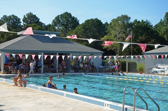 The Belle Terre Swim and Racquet Club during a fundraiser the Advisory Committee organized last month. (© FlaglerLive)