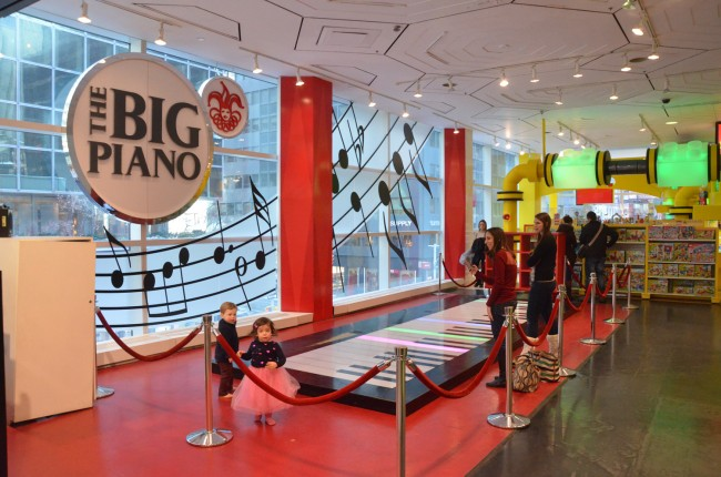Memories of Big, at FAO Schwartz. Click on the image for larger view. (© FlaglerLive)