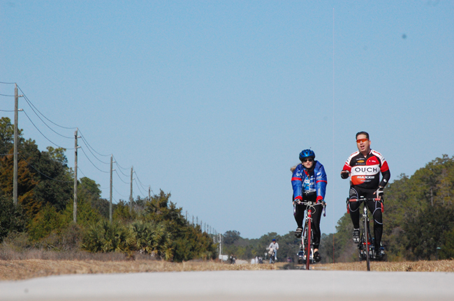 The trail system could eventually link into Palm Coast's and Flagler's already well developed bike paths. (c FlaglerLive)