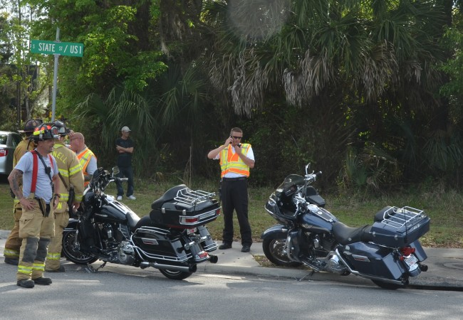 It wasn't clear which of the two bikes was involved in the wreck. Click on the image for larger view. (© FlaglerLive)