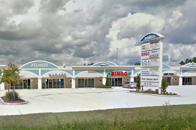 The bingo parlor at the heart of the issue is located in the Atlantis center in Bunnell.