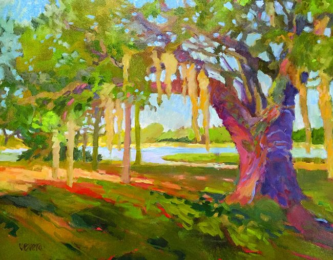 'Bing's Landing,' by Trish Vevera, the reigning Flagler County Artist of the Year, who has a new show opening this weekend. See below.