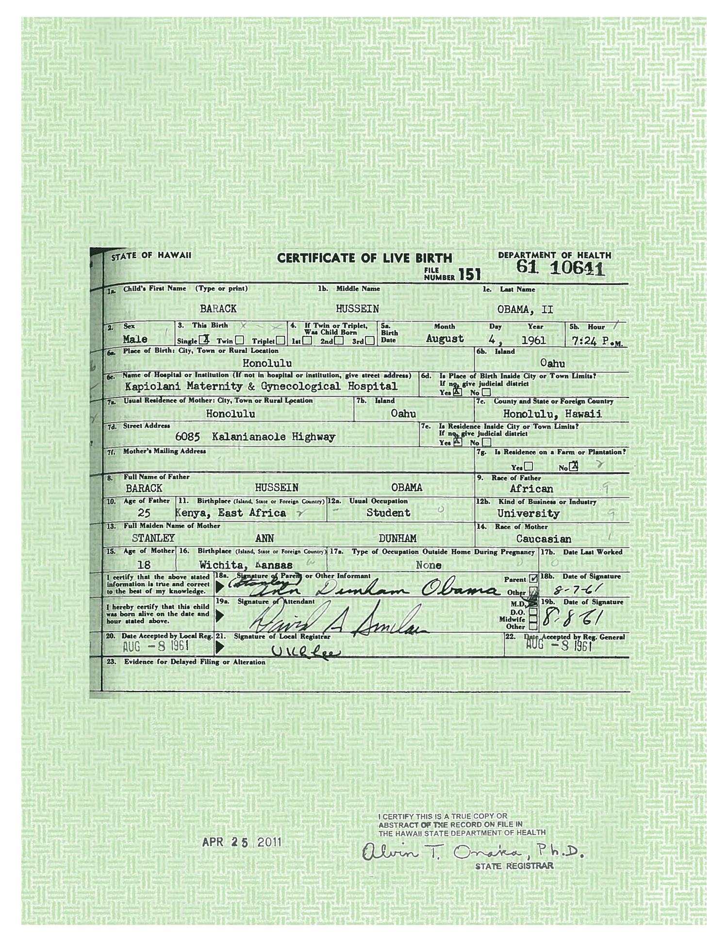 Obama releases long form birth certificate trump takes credit barack obama long form birth certificate birthers controversy aiddatafo Images