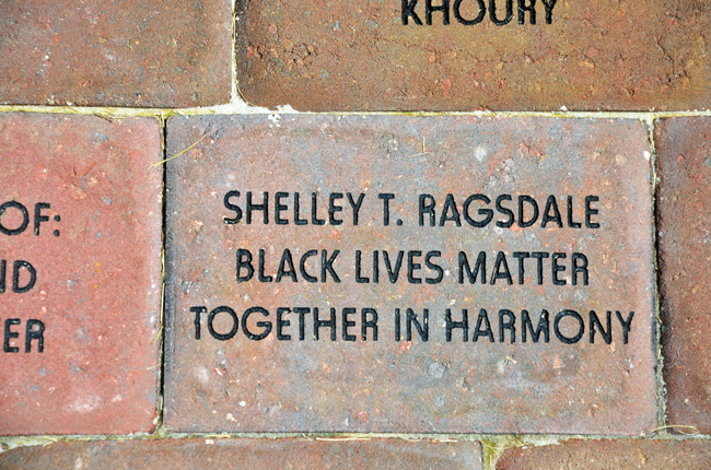 palm coast arts foundation fund-raising paver black lives matter