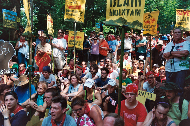 mountain top removal protesters blair mountain massey energy west virginia