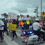 Last June's Black Lives Matter march in Flagler Beach. (© FlaglerLive)