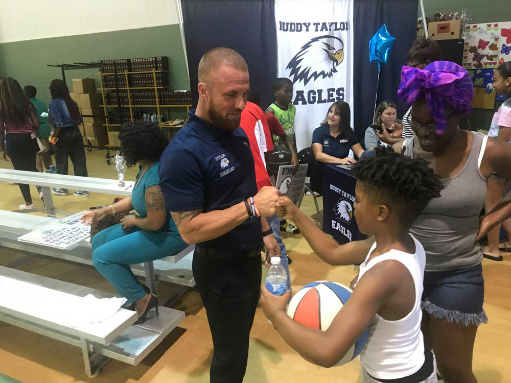 Buddy Taylor Middle School and Bunnell Elementary held a block party at Carver Gym in Bunnell Thursday, to celebrate success. (Flagler Schools)
