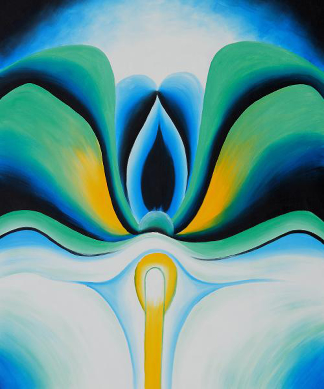 Georgia O'Keeffe, 'Blue Flower' (1918) florida abortion ultrasounds law fetus women gender
