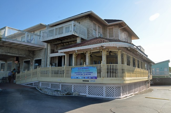 Island Grille will take up where Blue left off, in the stately building of the Topaz motel in Flagler Beach. (© FlaglerLive)