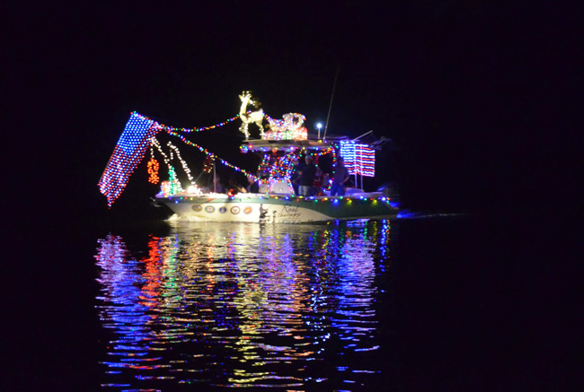 The Yacht Club's Boat Parade did not get the $1,250 grant it was seeking from tourism dollars. (c FlaglerLive)