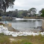 The boat ramp at the end of Pamela Parkway, part of a 7,600-square-foot right of way Flagler County owns, and that it is seeking to give away to the two homeowners on either side of the ramp. (© FlaglerLive)