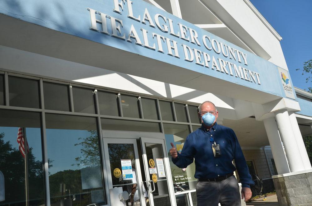 Flagler County Health Department Chief Bob Snyder, an eternal optimist. (© FlaglerLive)