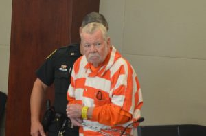 Bobby Earl Gore arriving in court this morning. (© FlaglerLive)