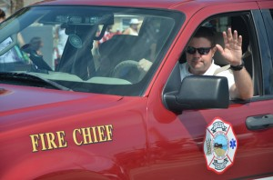 Bobby Pace heads the Flagler Beach Fire Department. (© FlaglerLive)