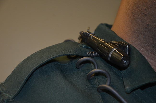 A Flagler County Sheriff's deputy's body cam. The NAACP hears about the sheriff's Office's body cam program at a meeting tonight. See below. (c FlaglerLive)