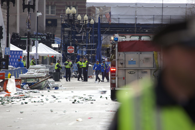 As Boston barricaded after the attack. (Vjeran Pavic)