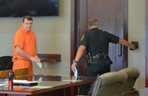 Bowling returned to the Flagler County jail to await his next trial on a child-rape charge and other charges. (© FlaglerLive)