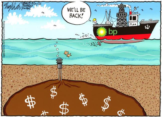 bp oil spill cartoon