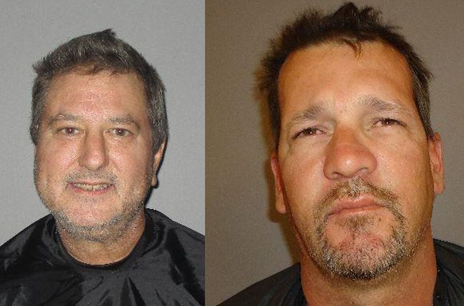 Raymond Crown, left, and Robert Brandon.  threats sheriff's office