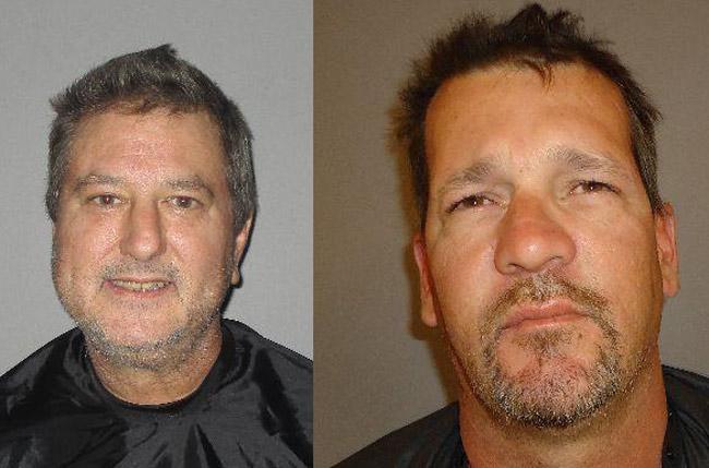 Raymond Crown, left, and Robert Brandon. threats sheriff's office