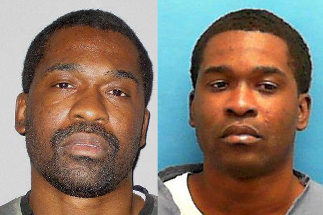 Brandon Washington in his latest shots--from the Flagler County jail, left, and at the Florida prison system.