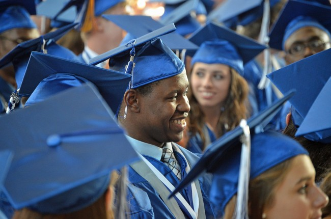 The great Brian Dieudonne, one of Matanzas High School's 340 graduates Friday evening. (© FlaglerLive)