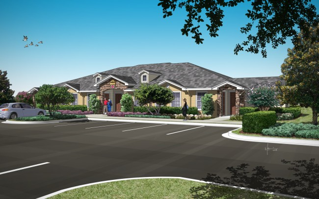 Brookhaven in an artist's rendering. click on the image for larger view. (Palm Coast)