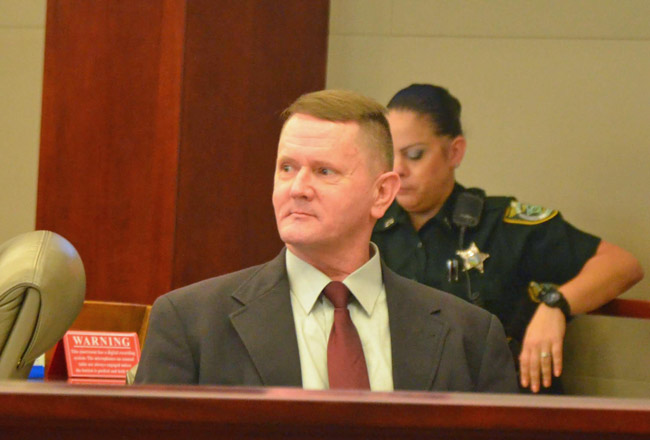 Bruce Haughton faces seven years in prison if he is found guilty of assisted suicide in the death of Katheryn Goddard two years ago in Palm Coast. (© FlaglerLive)