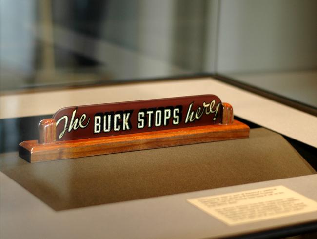 the buck stops here harry truman