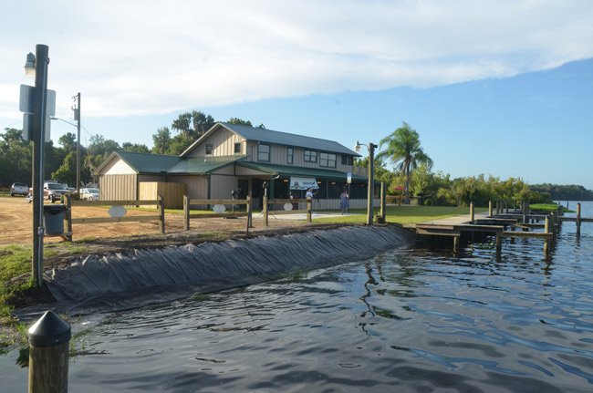 Bull Creek Restaurant laps the shores of Dead Lake, and a century of history at the western end of Flagler County. (© FlaglerLive)