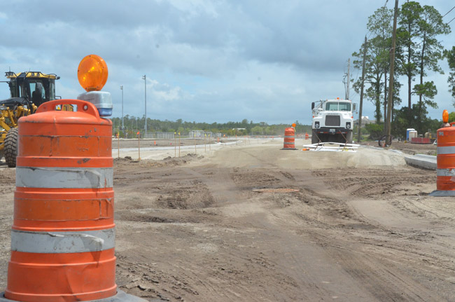 'Getting there has been a headache,' Palm Coast City Manager Jim Landon said of the Bulldog Drive expansion. (© FlaglerLive)