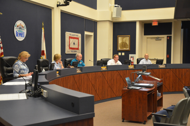 The Bunnell City Commission is again in shock over the second bill from its attorney, with one more bill to go. The attorney, Lonnie Groot, has resigned effective Oct. 1. (© FlaglerLive)