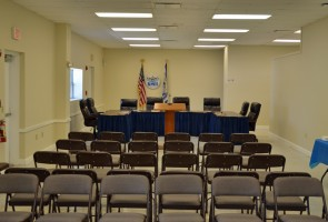 The Bunnell City Commission finally has its own chambers again, which can seat 50 now, and may seat 100 in future. Click on the image for larger view. (© FlaglerLive)