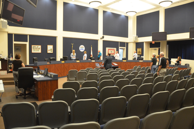 The Bunnell City Commission's meeting was not a big draw, except for the four candidates being interviewed for the city manager's job. (c FlaglerLive)
